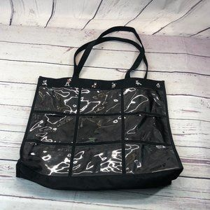 Disney - 9 clear picture slot - black tote bag lar
